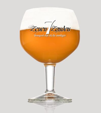 Zeven Zonden glas Seven Sins merchandise by the brew society