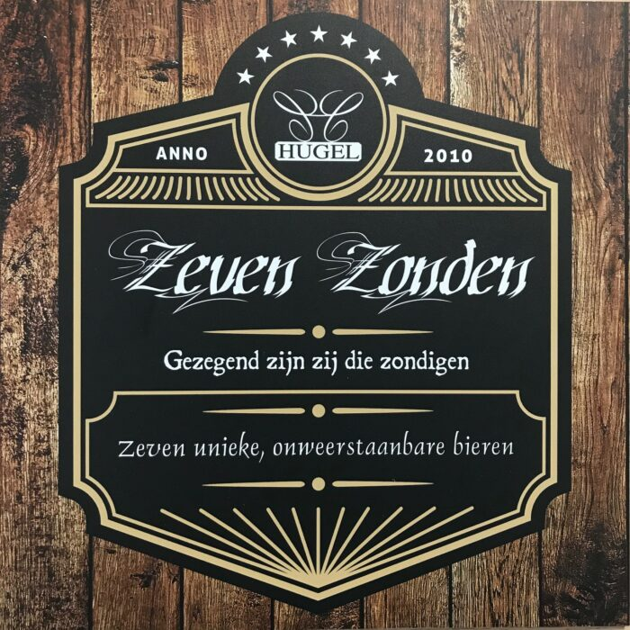 Zeven Zonden/ Seven Sins merchandise on the brew society webshop