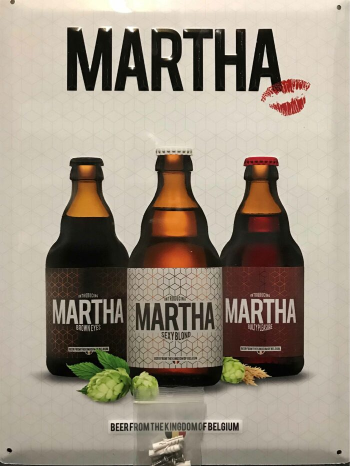 Metal plate deliverd with bolts Martha Merchandise on the Brew Society webshop